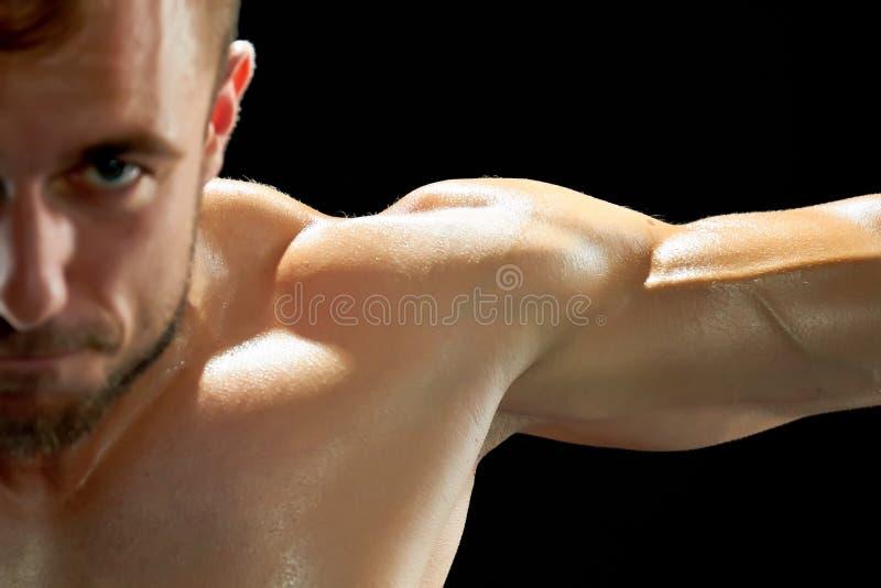 Intensywny trening sportowiec obraz stock