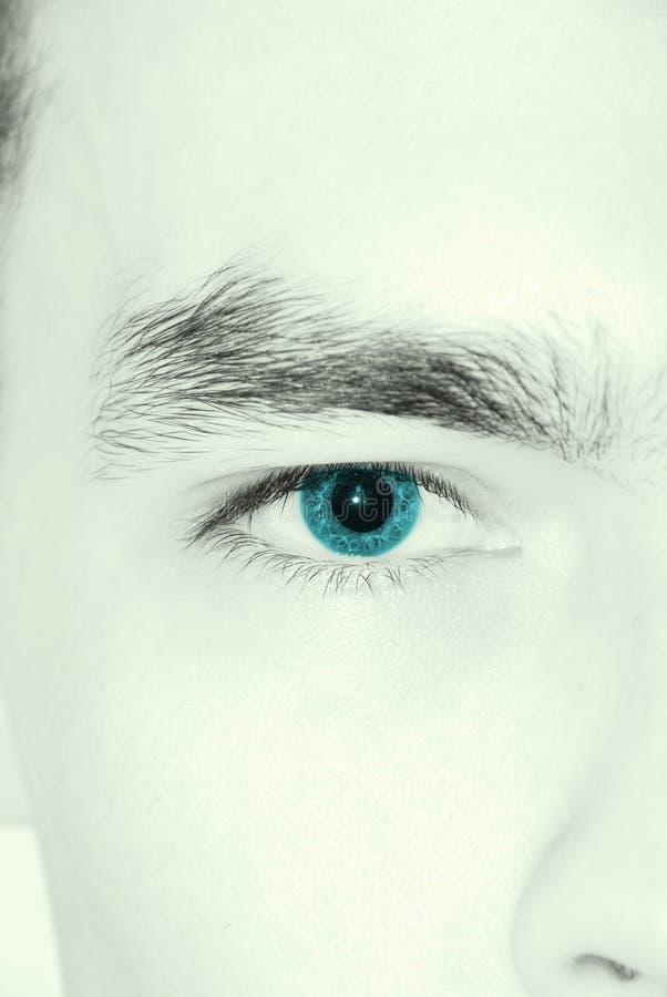 Download Intent glance stock image. Image of blue, glance, detail - 4340907
