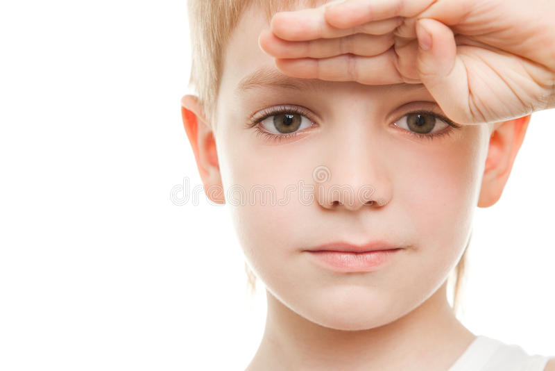 Download Intently Looking Boy Portrait Stock Image - Image: 19600029