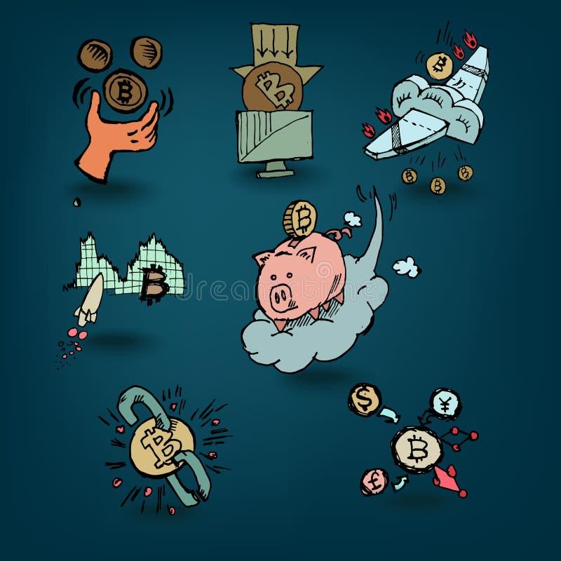 Interés en Bitcoin stock de ilustración