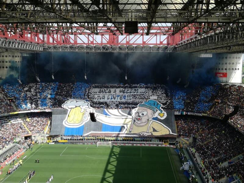 Inter-fans royaltyfri bild