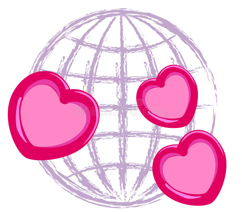 Inter liefdesymbool royalty-vrije illustratie