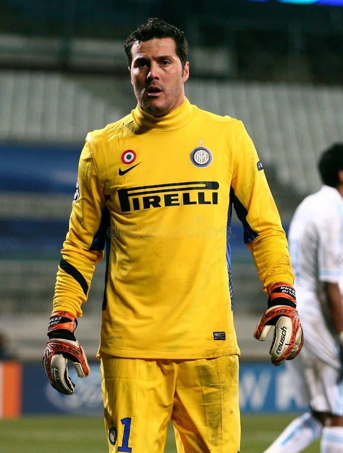 Inter Milano S Julio Cesar Editorial Photo