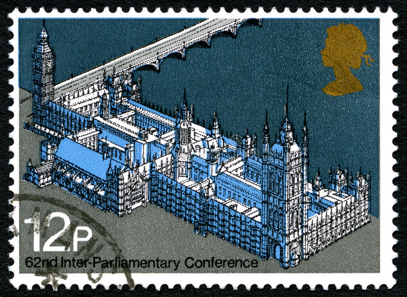 62 Inter-Parliamentary Conference Postage Stamp royalty free stock images