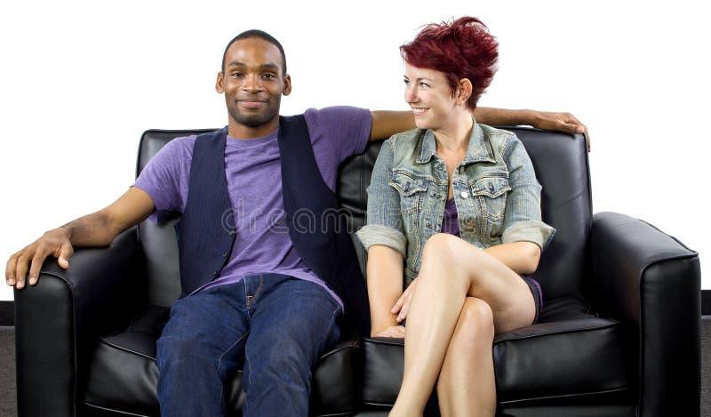 Interracial Auf Der Couch