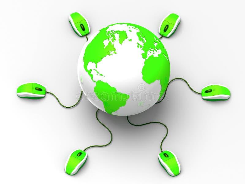 Interação mundial ilustração do vetor