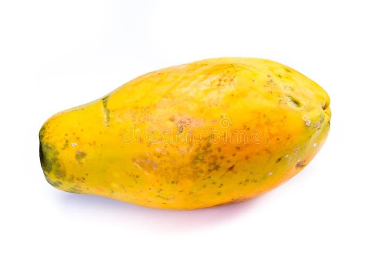Intera papaia matura fotografia stock