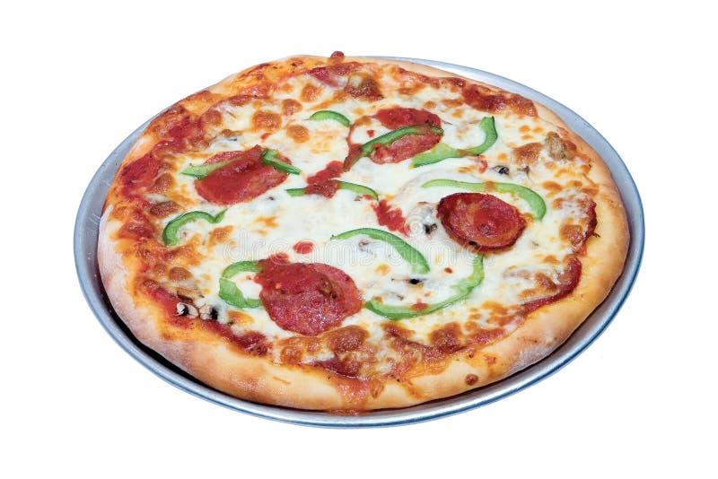 Intera pizza fotografia stock
