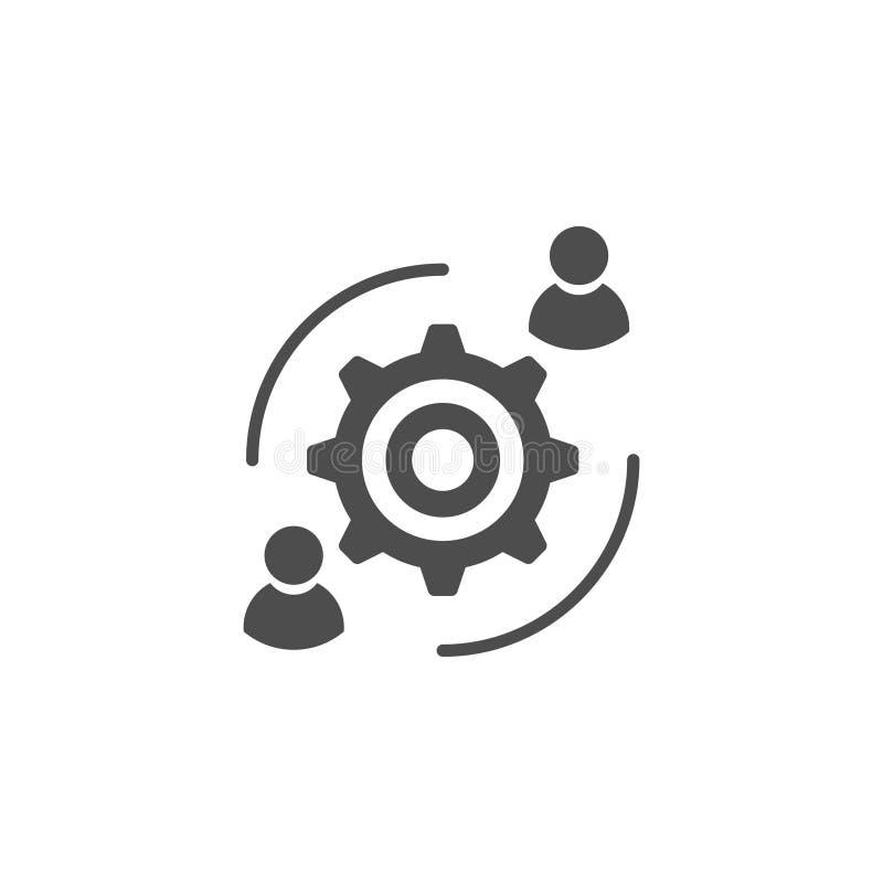 Interacción del usuario, interacción de la gente, reunión de negocios, discusión ilustración del vector