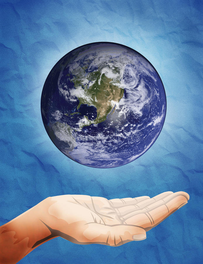 Interact with earth stock photo