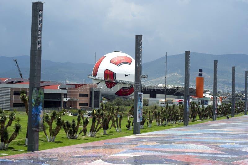 Interactief museum van Voetbal in Pachuca Mx. royalty-vrije stock afbeeldingen