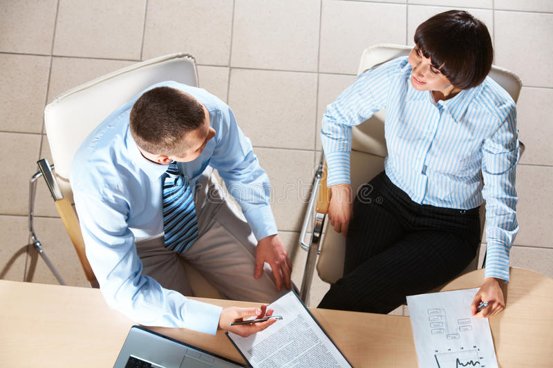 Download Interacting partners stock image. Image of business, explaining - 17585811