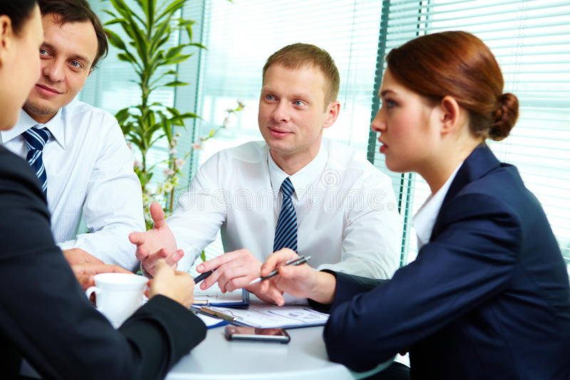 Download Interacting partners stock image. Image of debating, businesspeople - 24738059