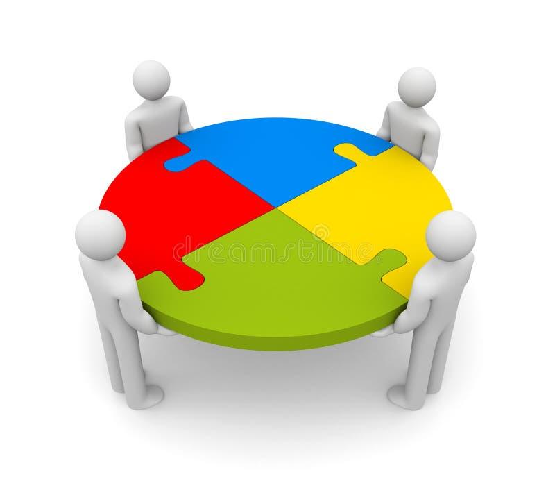 Interaction stock illustration
