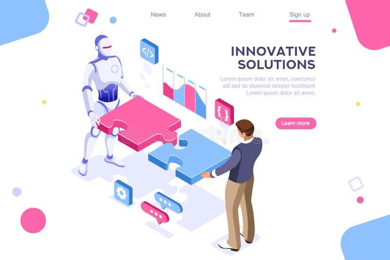 Interaction humaine de concept de contact d'association illustration stock