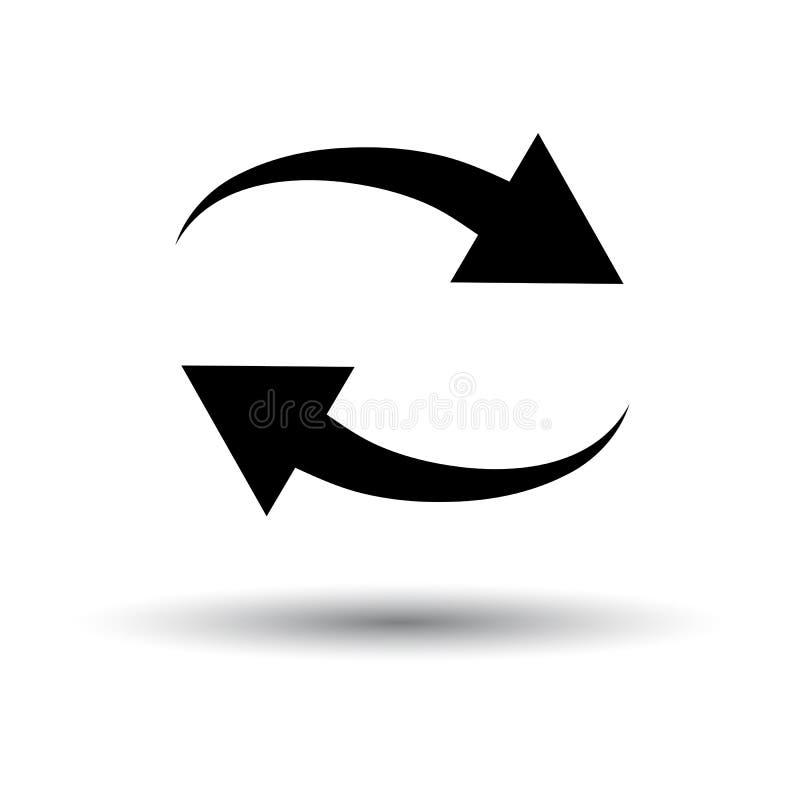 Interaction Icon. Black on White Background With Shadow. Vector Illustration vector illustration