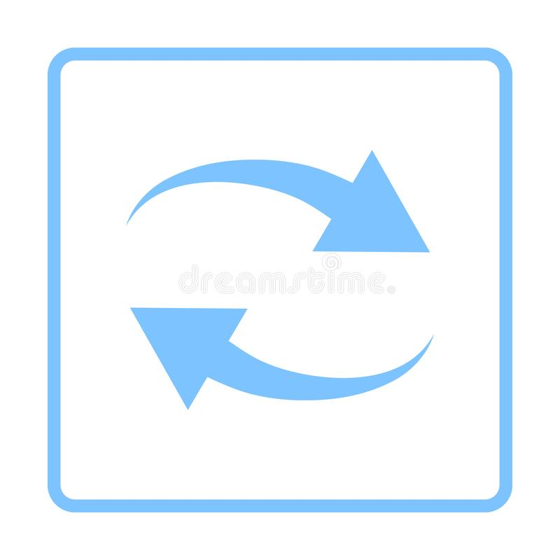 Interaction Icon. Blue Frame Design. Vector Illustration stock illustration