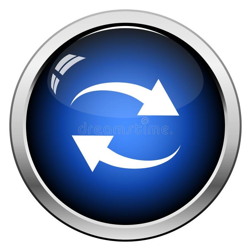 Interaction Icon. Glossy Button Design. Vector Illustration vector illustration
