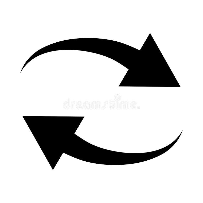 Interaction Icon. Black Stencil Design. Vector Illustration vector illustration
