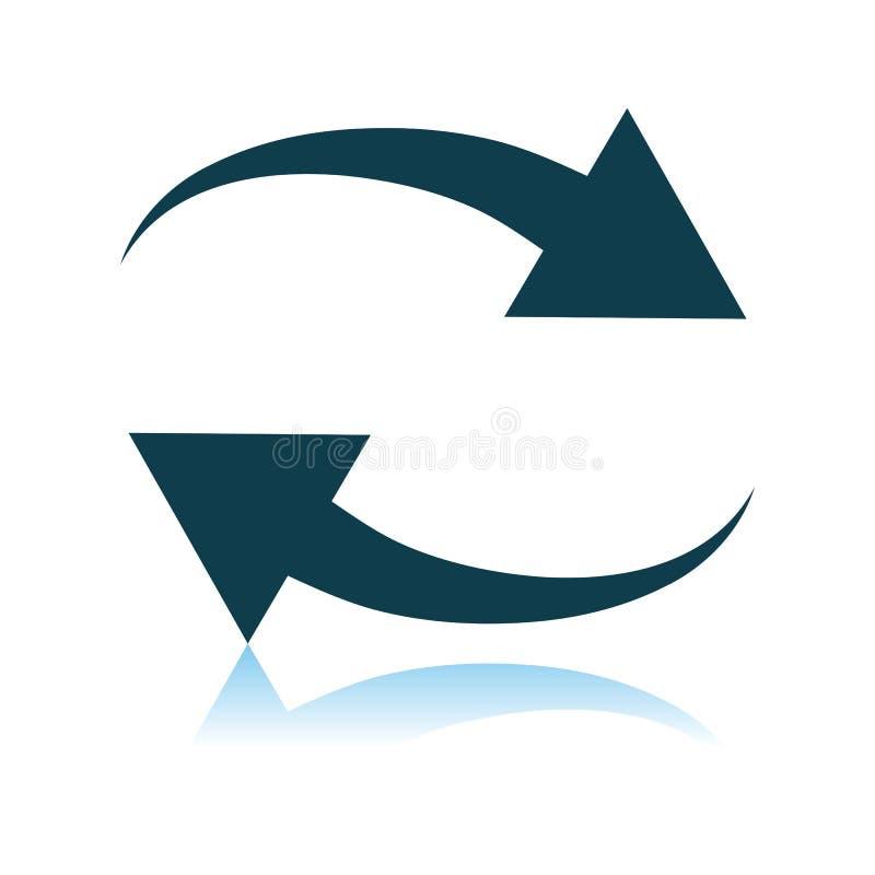 Interaction Icon. Shadow Reflection Design. Vector Illustration stock illustration