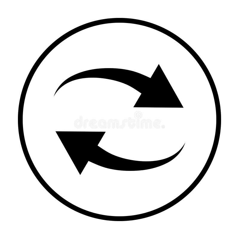 Interaction Icon. Thin Circle Stencil Design. Vector Illustration stock illustration