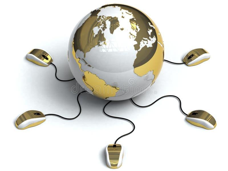 Interaction mondiale illustration de vecteur