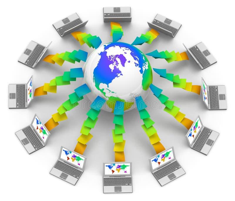 Interaction mondiale illustration stock