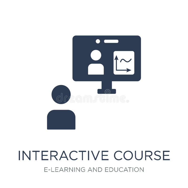 interactive course icon. Trendy flat vector interactive course i royalty free illustration