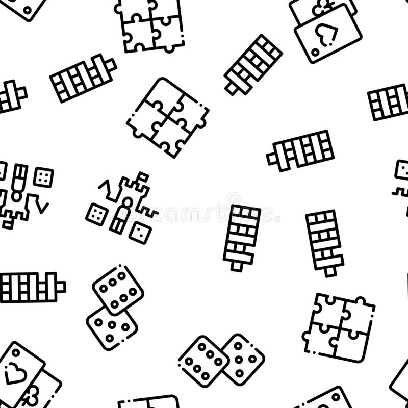 Interactive Kids Games Seamless Pattern Vector royalty free illustration