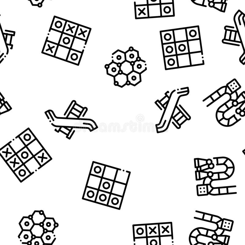 Interactive Kids Games Seamless Pattern Vector stock illustration