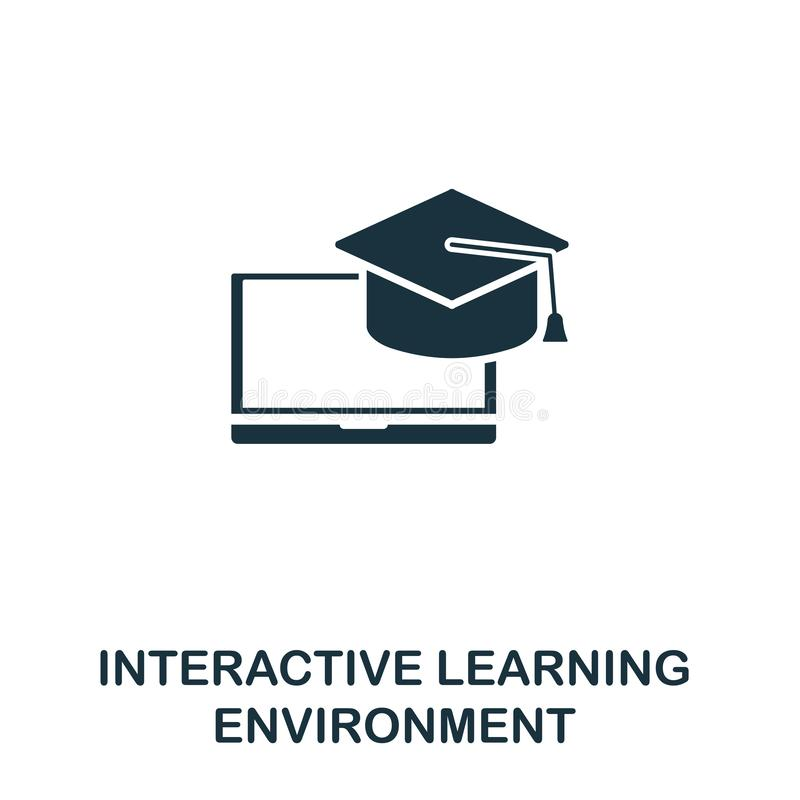 Interactive Learning Environment icon. Creative element design from content icons collection. Pixel perfect ILE icon for web royalty free illustration
