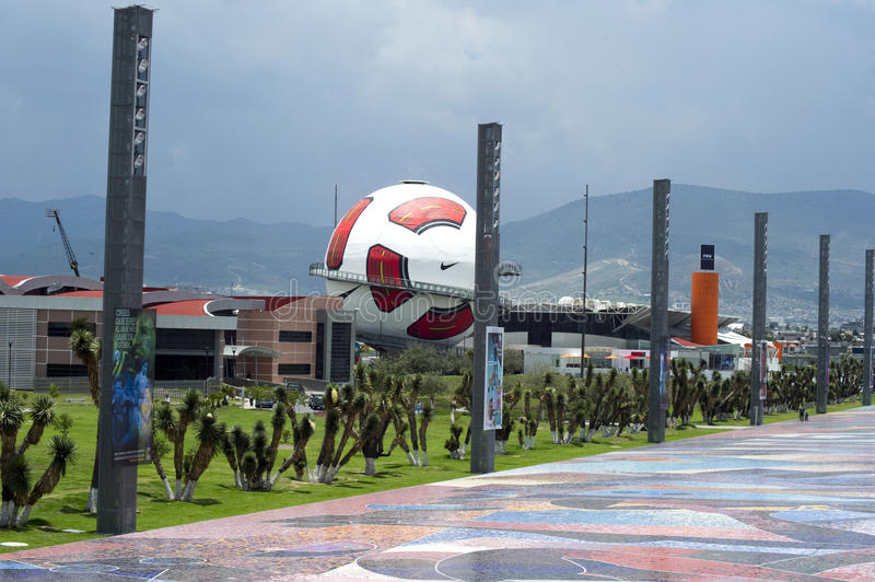 Interactive museum of Football in Pachuca Mx. royalty free stock images