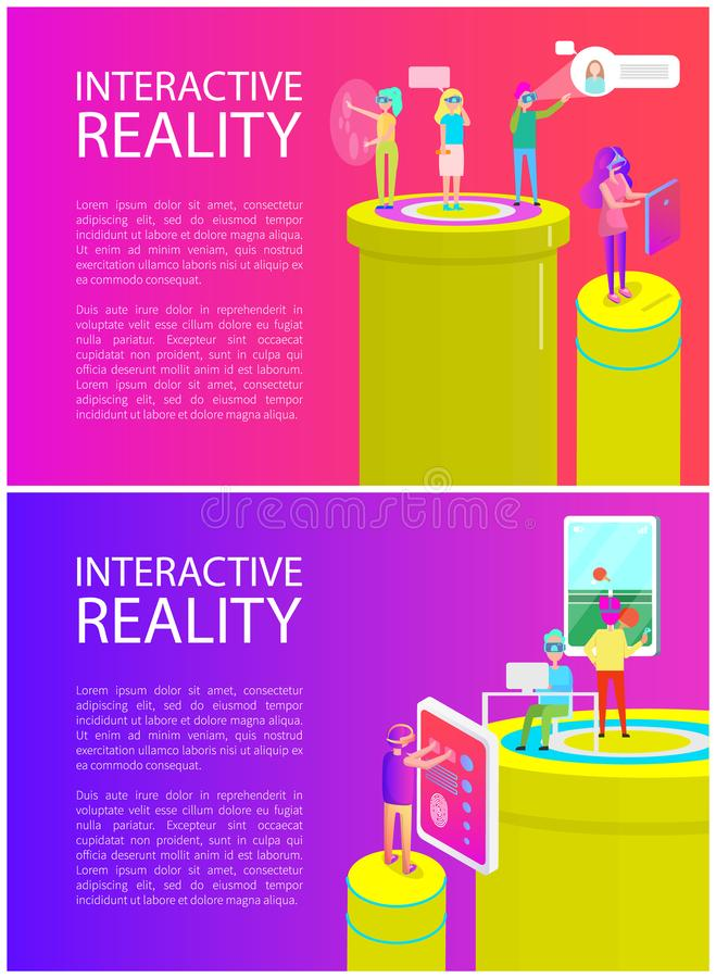 Interactive Reality Poster Set Vector Illustration vector illustration