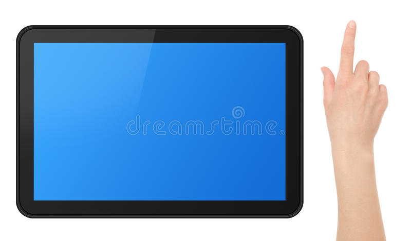 Download Interactive Touch Screen Tablet With Hand Stock Image - Image: 19084673