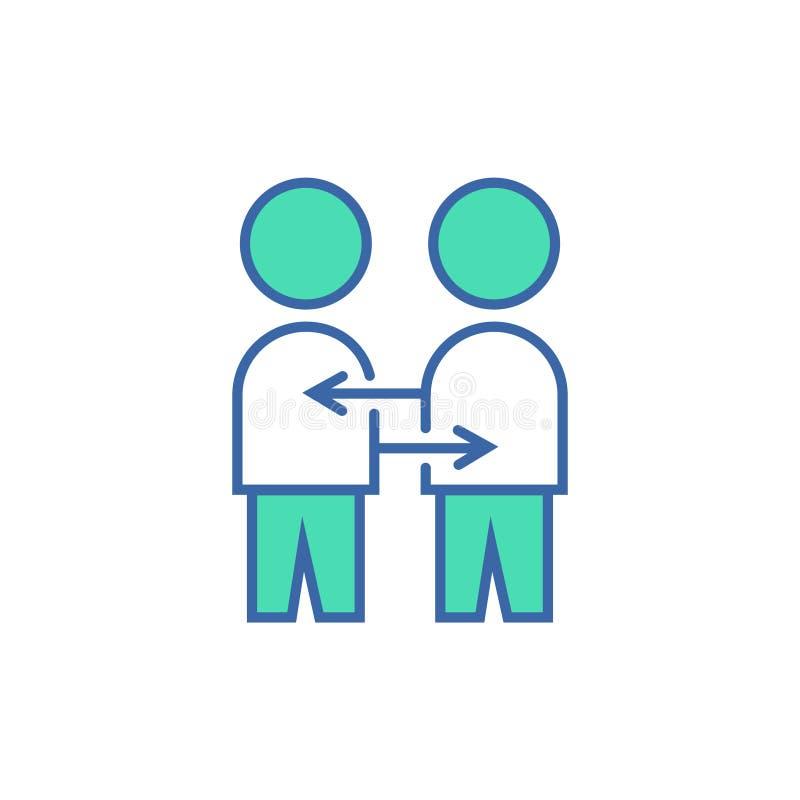 Interakcji ikona wektorowy planu i diagrama symbol płaska interakcji ikona royalty ilustracja