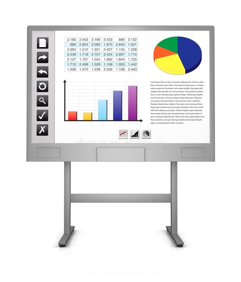 Interaktives whiteboard lizenzfreie abbildung