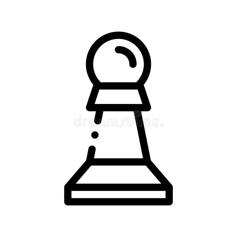 Interaktywnego dzieciaka Gemowego Szachowego wektoru Cienka Kreskowa ikona ilustracji