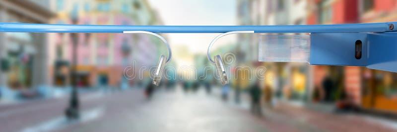 Interaktywni szkła 3d odpłacają się na białym tle royalty ilustracja