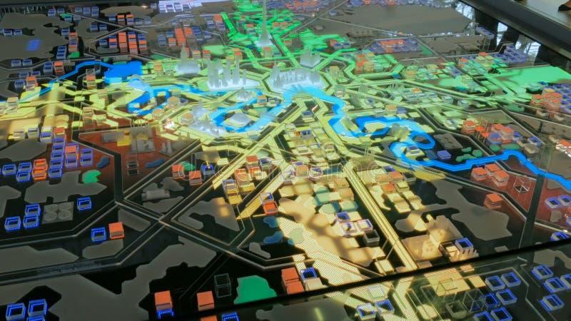 Interaktywny 3D miasta model Moskwa obrazy royalty free