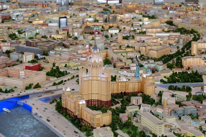 Interaktywny model Moskwa czerep Budować na Kotelnicheskaya bulwarze obrazy royalty free