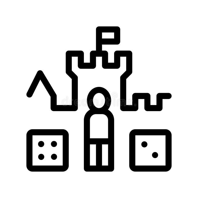 Interaktywnych dzieciaków osobistości wektoru znaka Grodowa ikona ilustracji