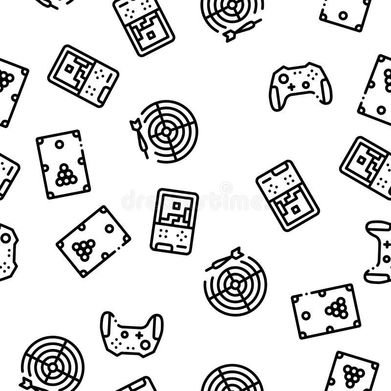 Interaktywnych dzieciak gier Bezszwowy Deseniowy wektor royalty ilustracja