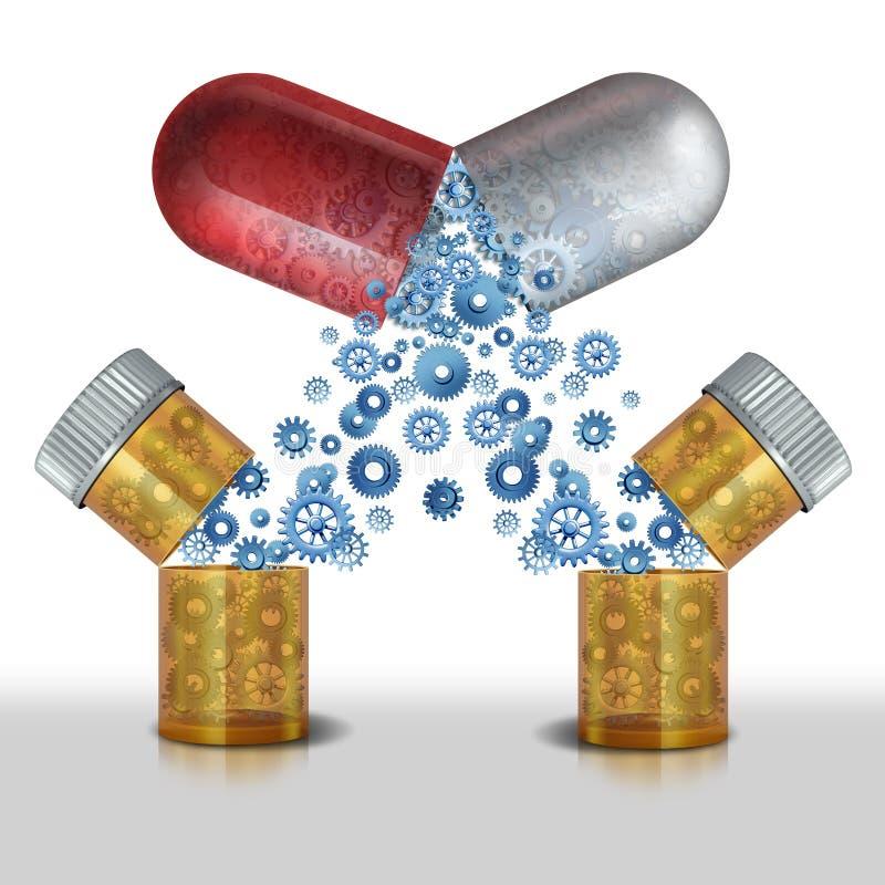 Interazione della medicina illustrazione di stock