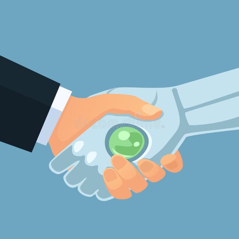 Interazione fra AI ed intelligenza umana immagine stock
