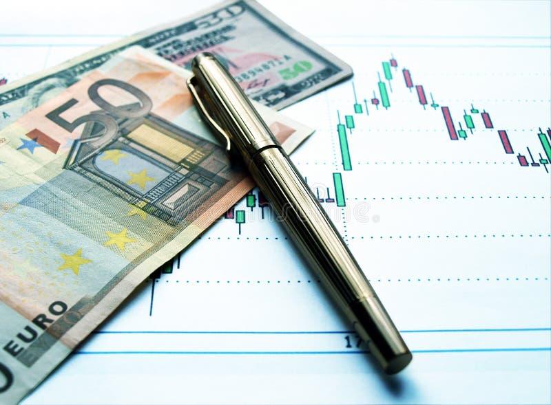 Intercambio de dinero en circulación fotos de archivo