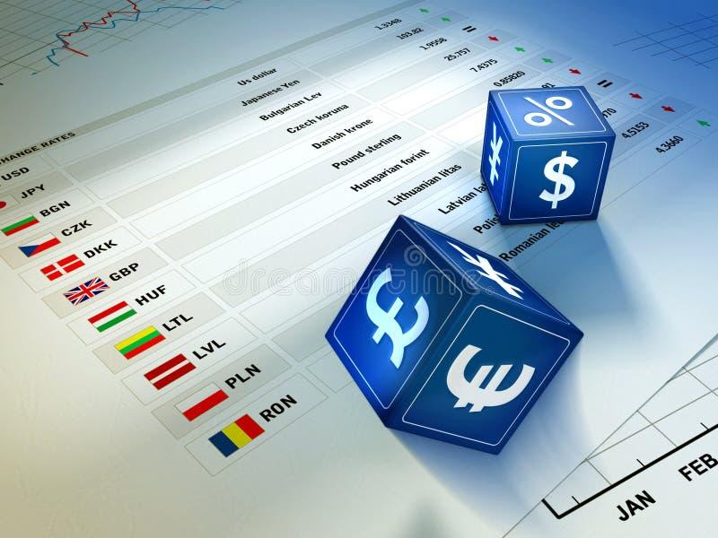 Intercambio de dinero en circulación stock de ilustración