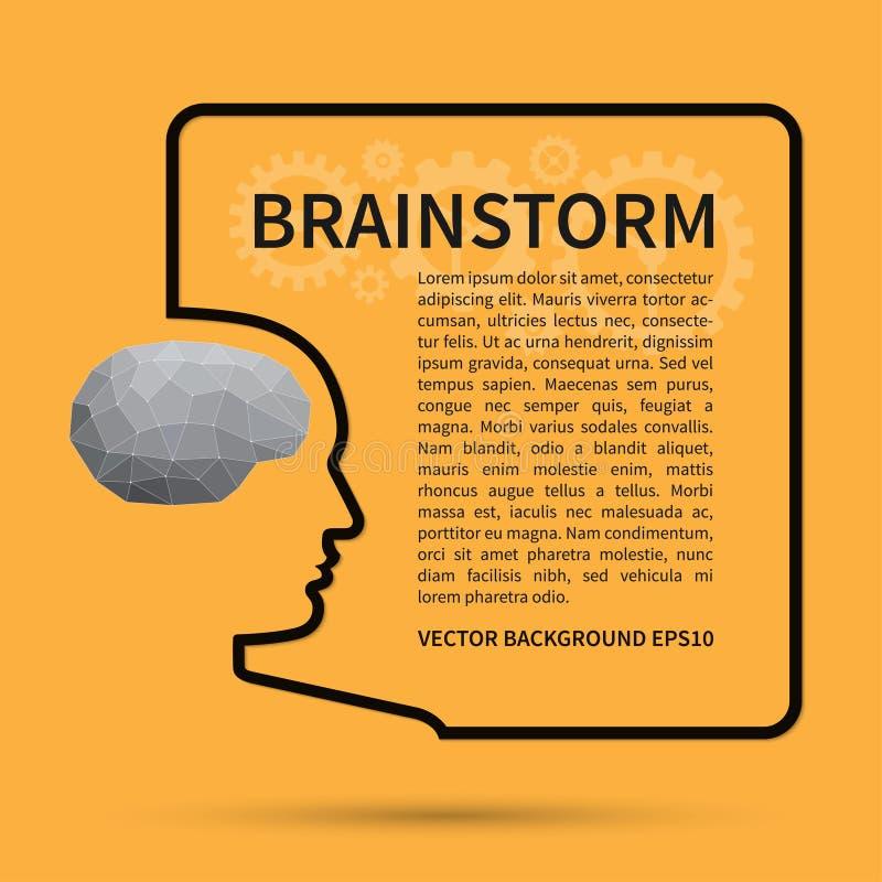 Intercambio de ideas, concepto del fondo del pensamiento creativo stock de ilustración