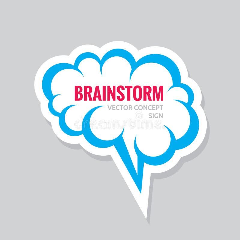 Intercambio de ideas - ejemplo del concepto del logotipo del negocio Etiqueta engomada de la burbuja del discurso Símbolo creativ ilustración del vector