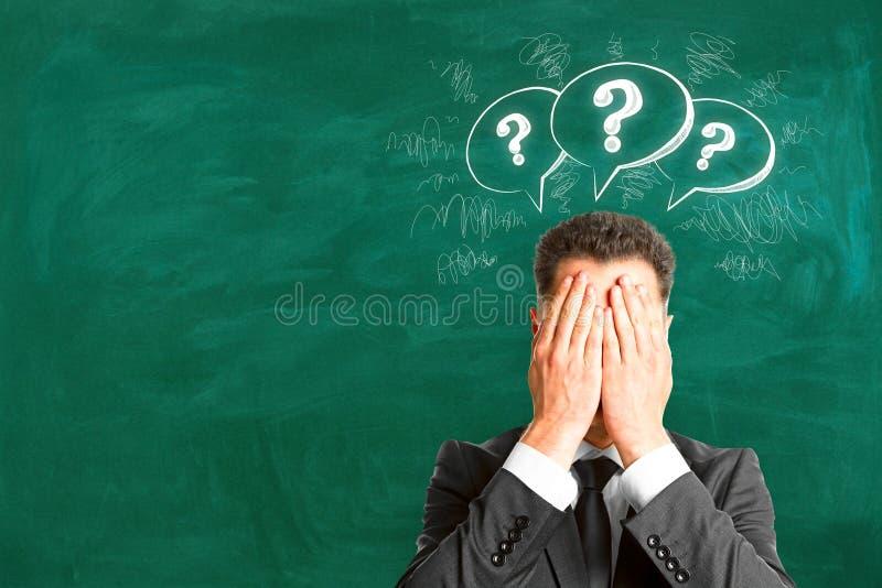 Intercambio de ideas y concepto del FAQ fotografía de archivo libre de regalías