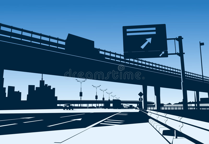 Intercambio de la autopista sin peaje libre illustration